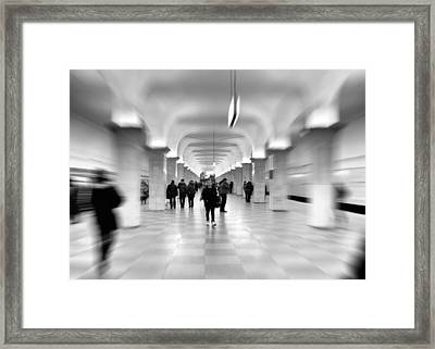 Moscow Underground Framed Print by Stelios Kleanthous