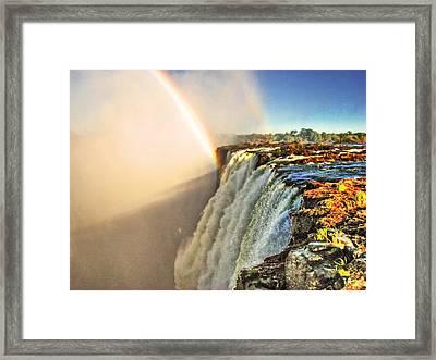 Mosi Oa Tunya Framed Print by William Fields