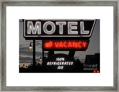 Motel - No Vacancy - 5d17747 Framed Print by Wingsdomain Art and Photography