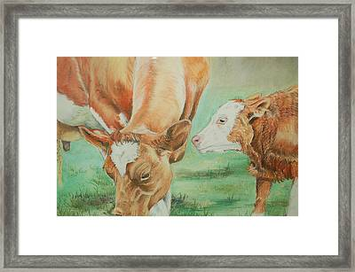 Mother And Baby Framed Print by Teresa Smith