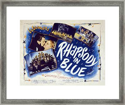 Motion Picture Poster For Rhapsody In Framed Print by Everett