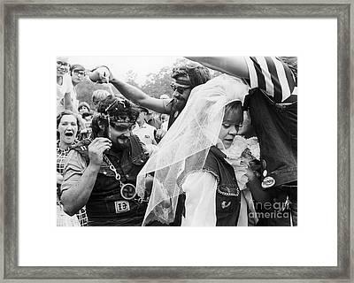 Motorcycle Club Wedding Framed Print by Granger