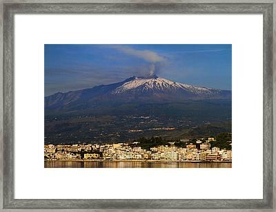 Mount Etna Framed Print by David Smith