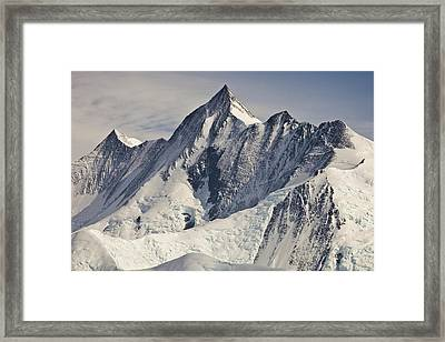 Mount Herschel Above Cape Hallett Framed Print by Colin Monteath
