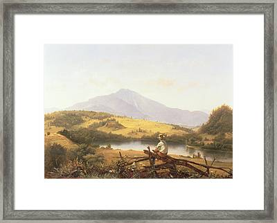 Mount Mansfield Framed Print by Jerome Thompson