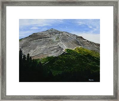 Mount Marathon  Framed Print by Betty-Anne McDonald