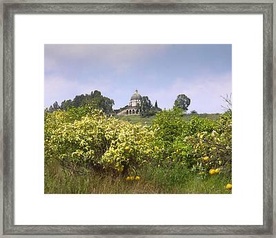 Mount Of Beatitudes Framed Print by Daniel Blatt