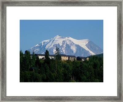 Mount Rainier 3 Framed Print by Kathy Long