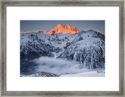 Mount Rolleston In The Dawn Light Framed Print by Colin Monteath