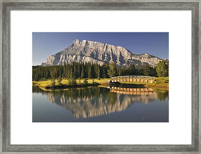 Mount Rundle And Cascade Ponds, Banff Framed Print by Darwin Wiggett