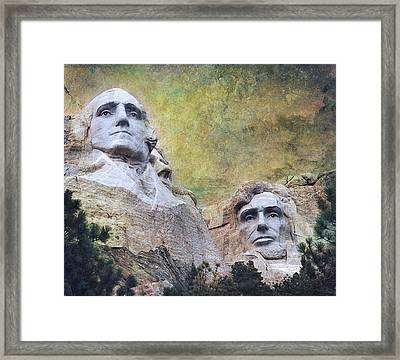 Mount Rushmore - My Impression Framed Print by Jeff Burgess