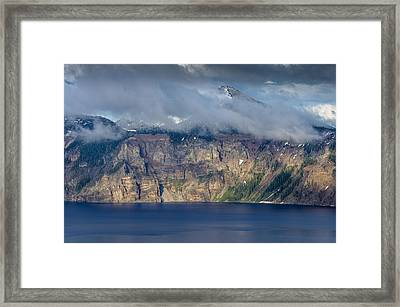 Mount Scott Cloud Shroud Framed Print by Greg Nyquist