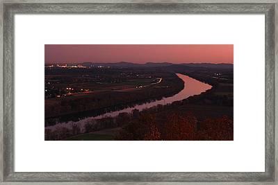 Mount Sugarloaf Twilight Autumn Panorama Framed Print by John Burk