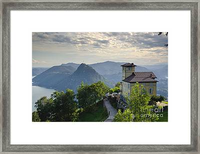 Mountain Bre Framed Print by Mats Silvan