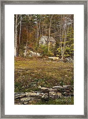 Mountain Cabin Framed Print by John Greim