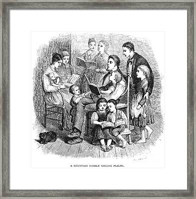 Mountain Family, 1874 Framed Print by Granger