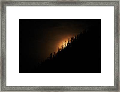 Mountain Glow Framed Print by Lisa  Spencer