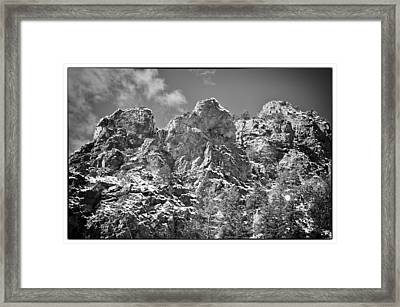 Mountain Peaks Framed Print by Lisa  Spencer