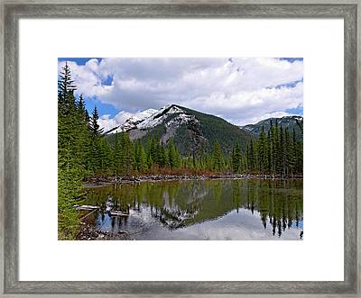 Mountain Pond Reflection Framed Print by Roderick Bley