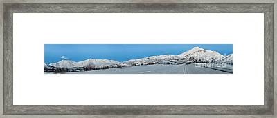 Mountain Range Along The Dempster Highway Framed Print by Priska Wettstein