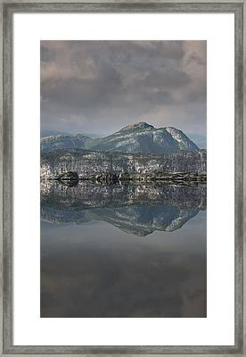 Mountain Reflection Framed Print by Andy Astbury