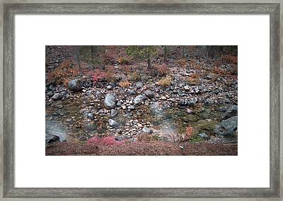 Mountain River Framed Print by Naxart Studio
