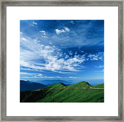 Mountain Road Framed Print by 1000