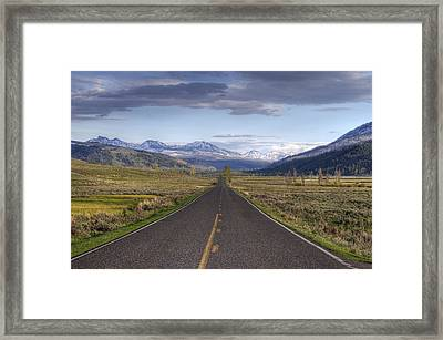 Mountain Road Framed Print by DBushue Photography