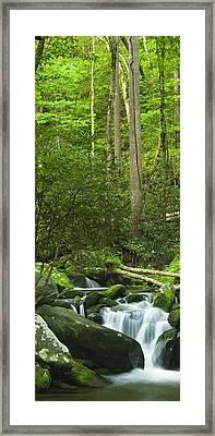Mountain Stream Panorama Framed Print by Andrew Soundarajan