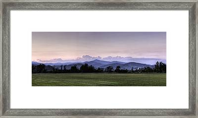 Mountain Sunset - North Carolina Landscape Framed Print by Rob Travis