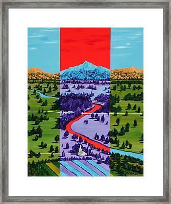 Mountain View Farm Framed Print by Randall Weidner
