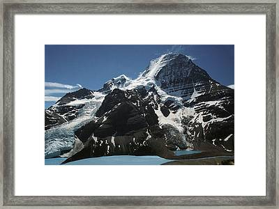 Mountain With Glacier And Snow Framed Print by Kelly Redinger