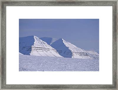 Mountains Above Kings Glacier Framed Print by Gordon Wiltsie