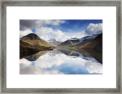 Mountains And Lake, Lake District Framed Print by John Short