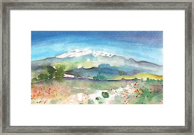 Mountains By Agia Galini Framed Print by Miki De Goodaboom