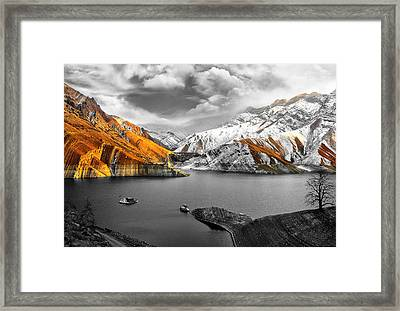 Mountains In The Valley 2 Framed Print by Sumit Mehndiratta
