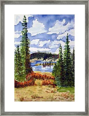 Mountian Lake Framed Print by Linda Pope