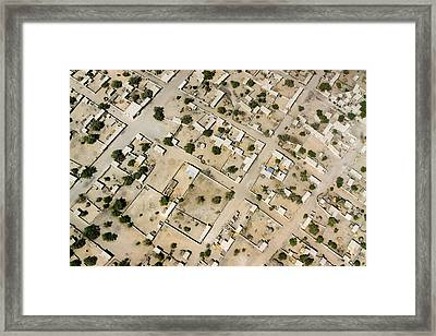 Moussoro Is A Large Town Northeast Framed Print by Michael Fay