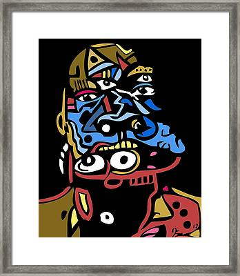 Mouthful Full Color Framed Print by Kamoni Khem