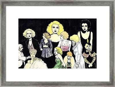 Movie Ladies Montage Framed Print by Mel Thompson
