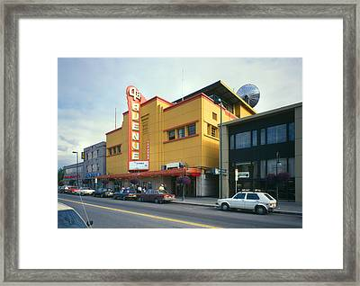 Movie Theaters, Fourth Avenue Theatre Framed Print by Everett