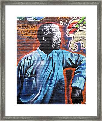Mr. Nelson Mandela Framed Print by Juergen Weiss