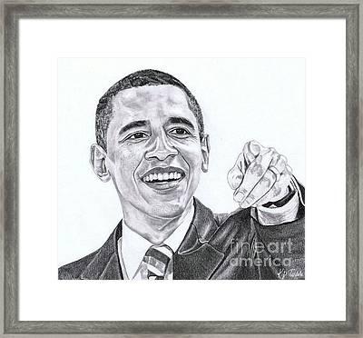 Mr. President Framed Print by Kelly Tisdale