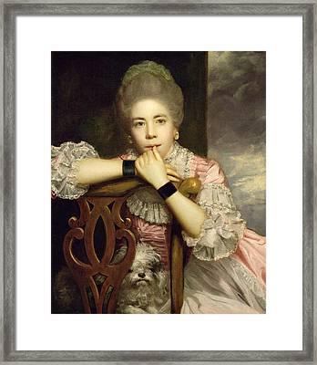 Mrs Abington As Miss Prue In Congreve's 'love For Love'  Framed Print by Sir Joshua Reynolds