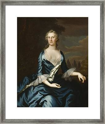 Mrs. Charles Carroll Of Annapolis Framed Print by John Wollaston