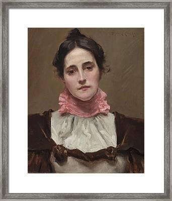 Mrs. William Merritt Chase Framed Print by William Merritt Chase
