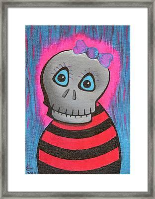 Mrs.skullington Framed Print by Landon Clary
