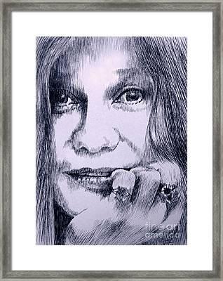Ms. Joplin Framed Print by Robbi  Musser