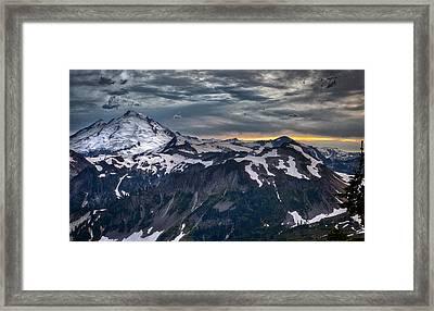Mt Baker Framed Print by A A