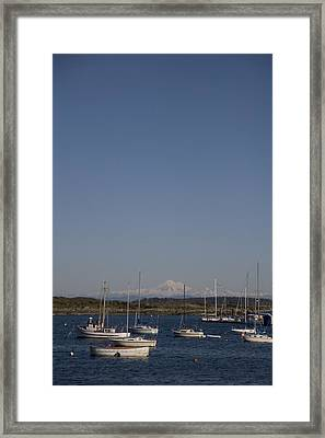 Mt Baker Looms Over A Harbor Full Framed Print by Taylor S. Kennedy